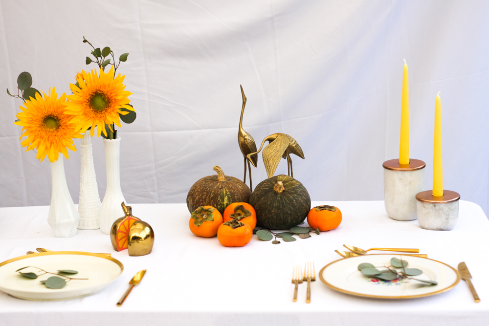 Thanksgiving table setting inspiration jest cafe Cheap thanksgiving table setting ideas