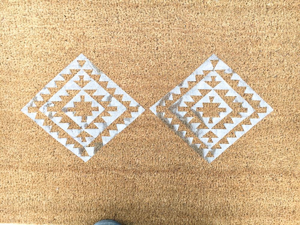 door mat stencil