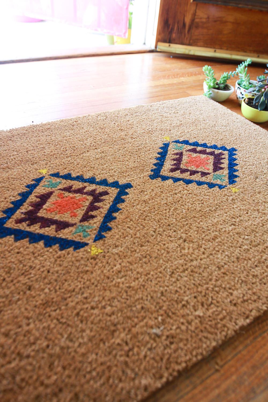 cute door mat design