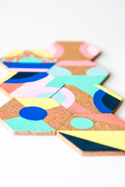 colorful diy coaster