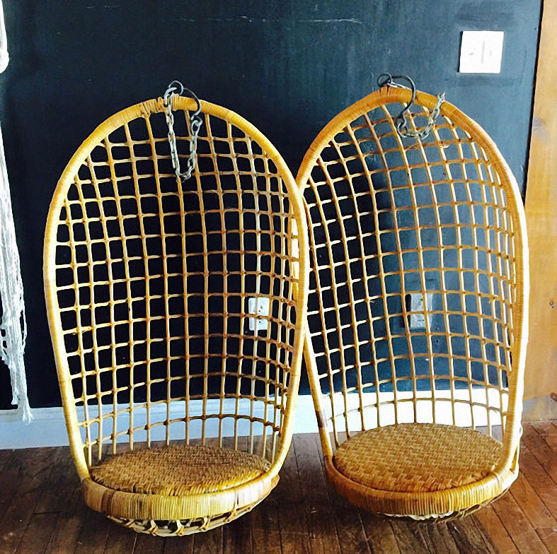Beau Vintage Hanging Rattan Chair U2013 Etsy U2013 $250 Jestcafe   Hanging Rattan Chairs  To Buy6