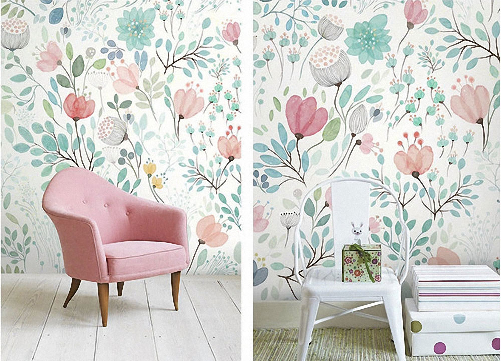 Snooping On Etsy Wallpaper For The Nursery Jest Cafe