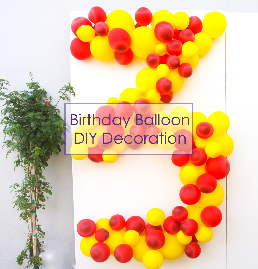 Balloon Birthday DIY - Jest Cafe