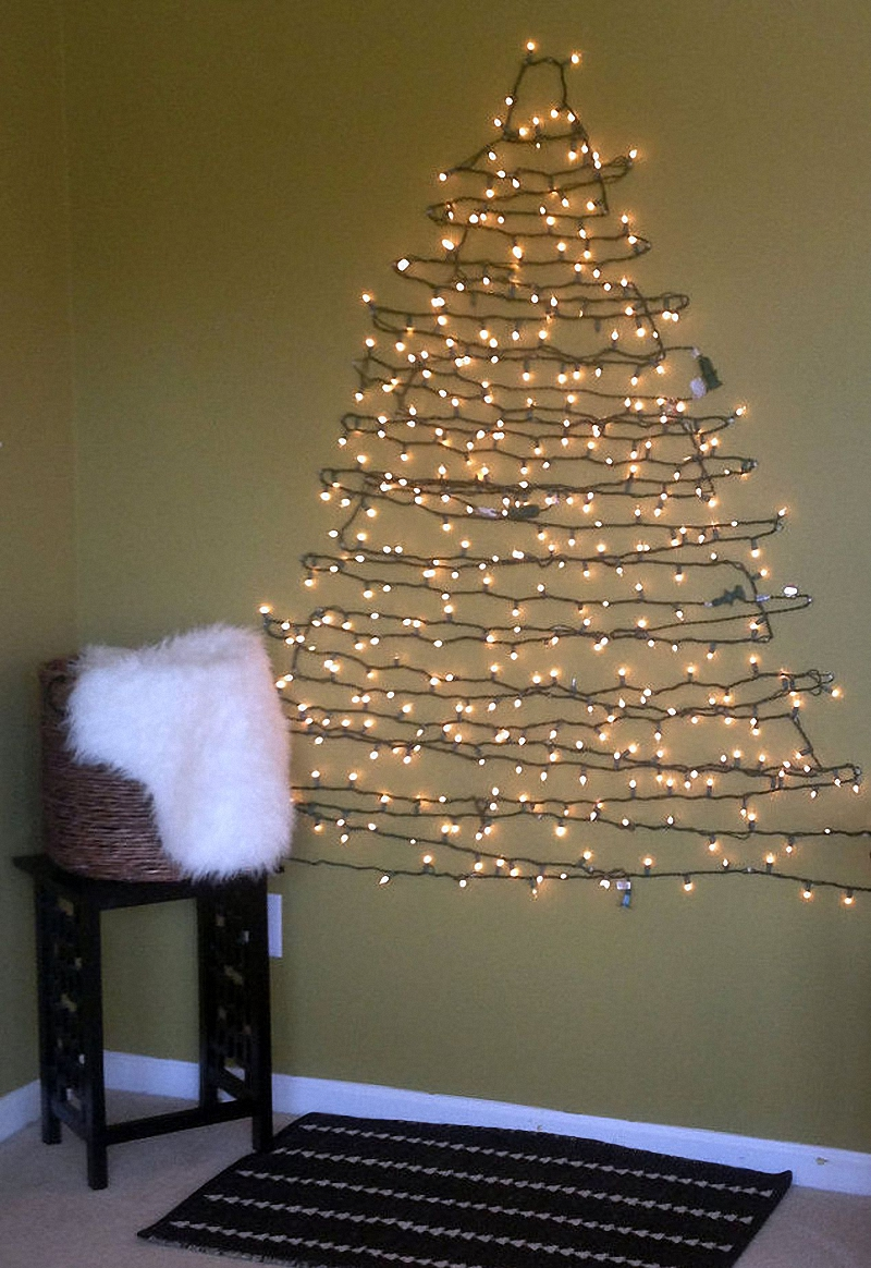 String Christmas Tree Lights Vertically : String Light Christmas Tree Decoration - Jest Cafe
