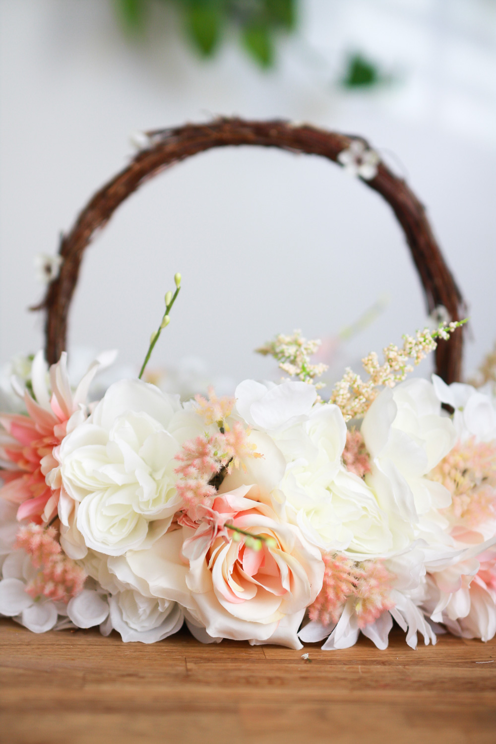 DIY Tulle Flower Girl Basket