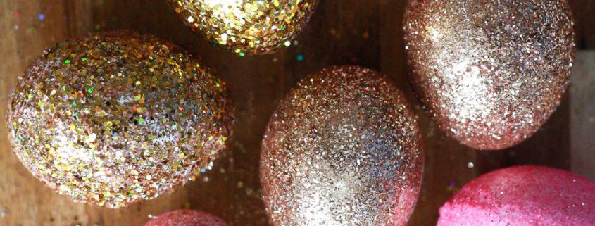 glitter easter eggs