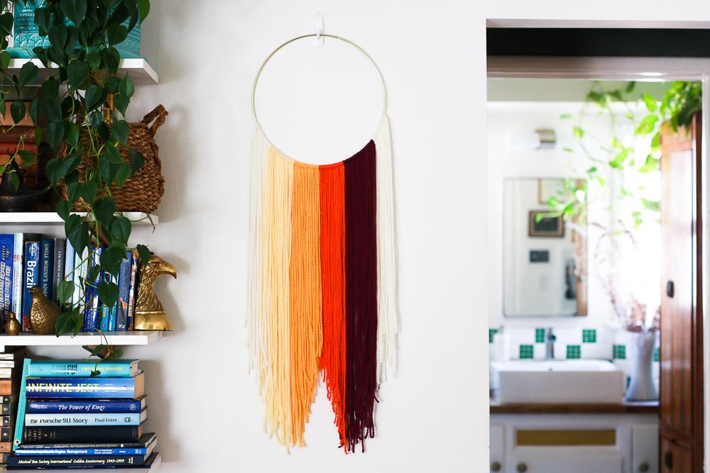 orange hanging textile