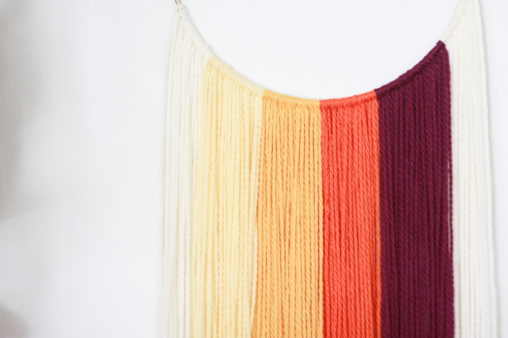 yellow hanging textile