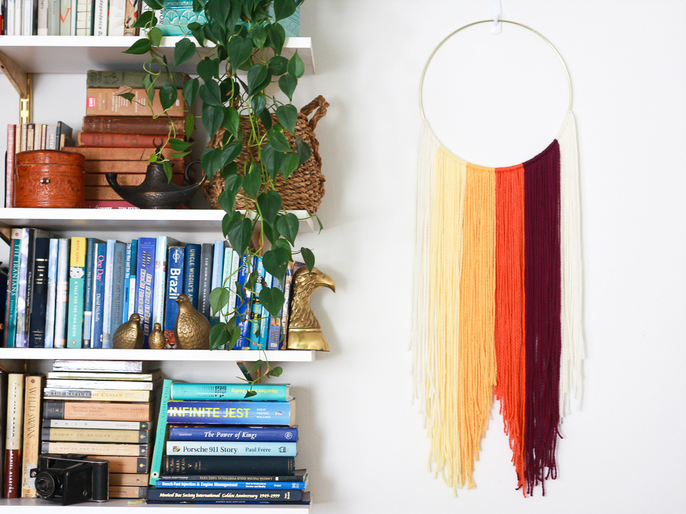 how to do a hanging textile