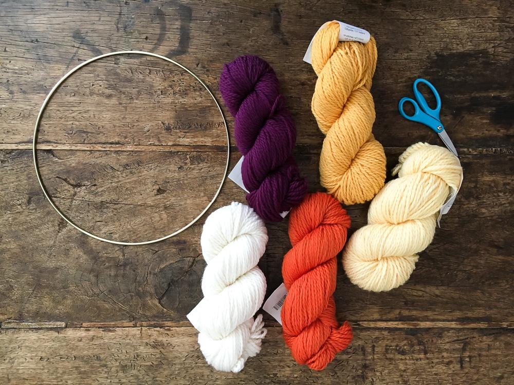 hanging textile materials
