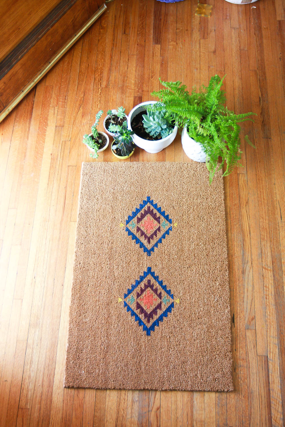 make your own door mat with cricut