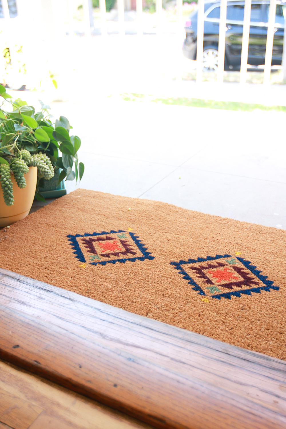 how to decorate door mat