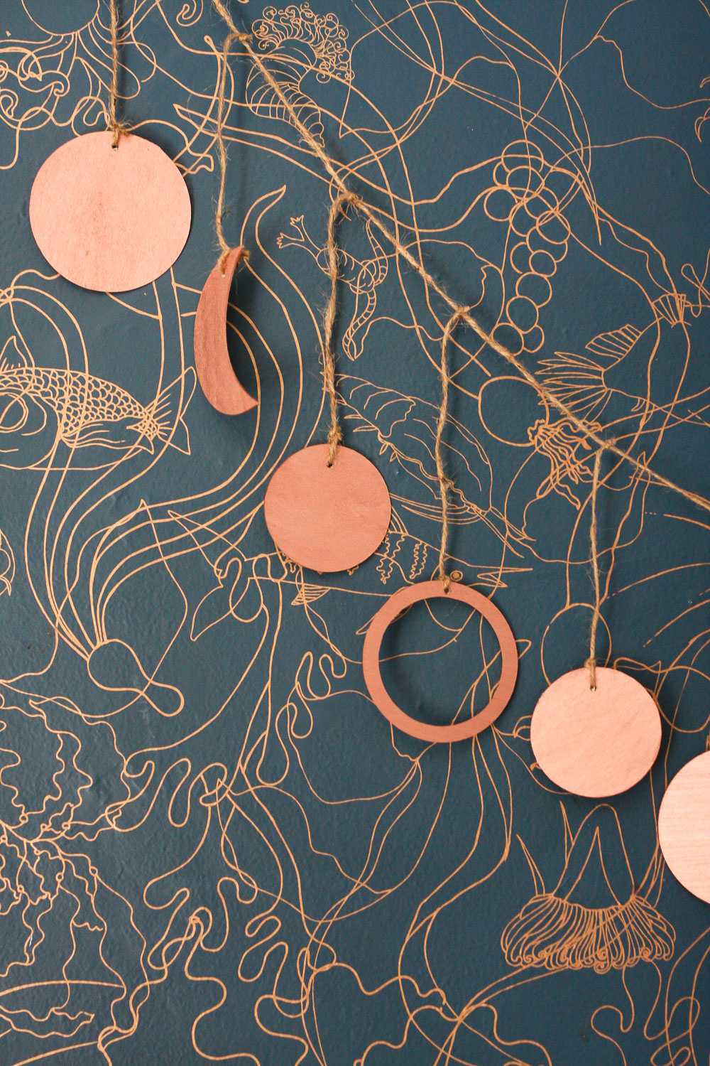 copper garland diy