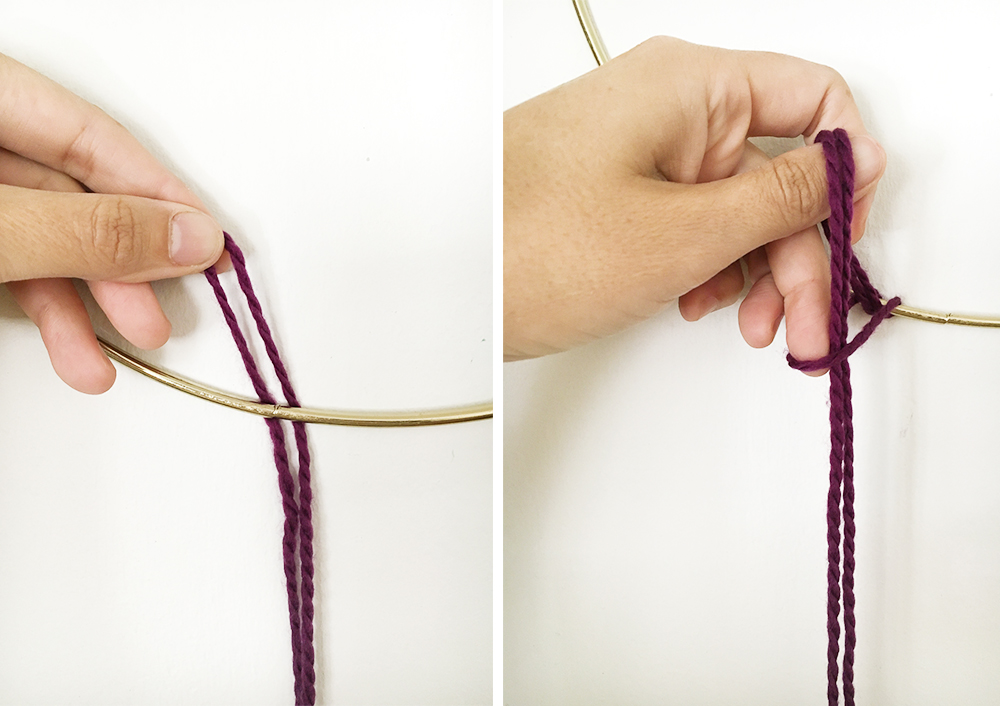hanging textile diy