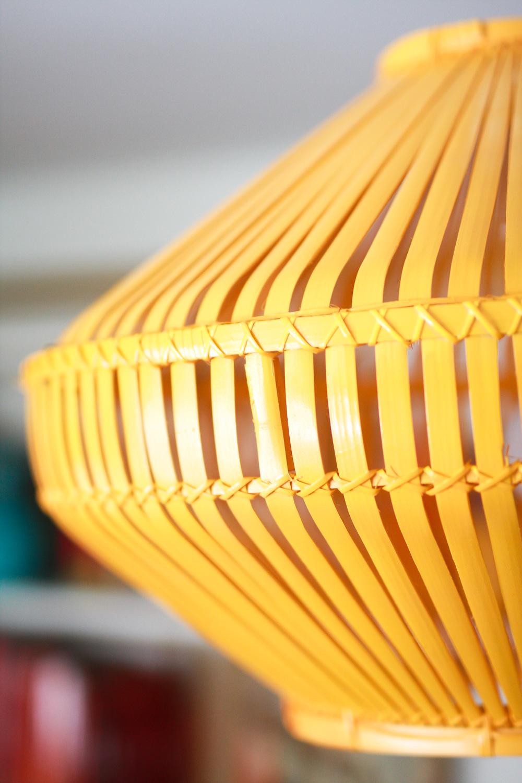 yellow lamp shade