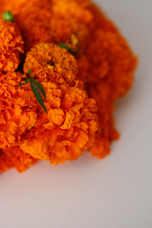 marigold wreath details
