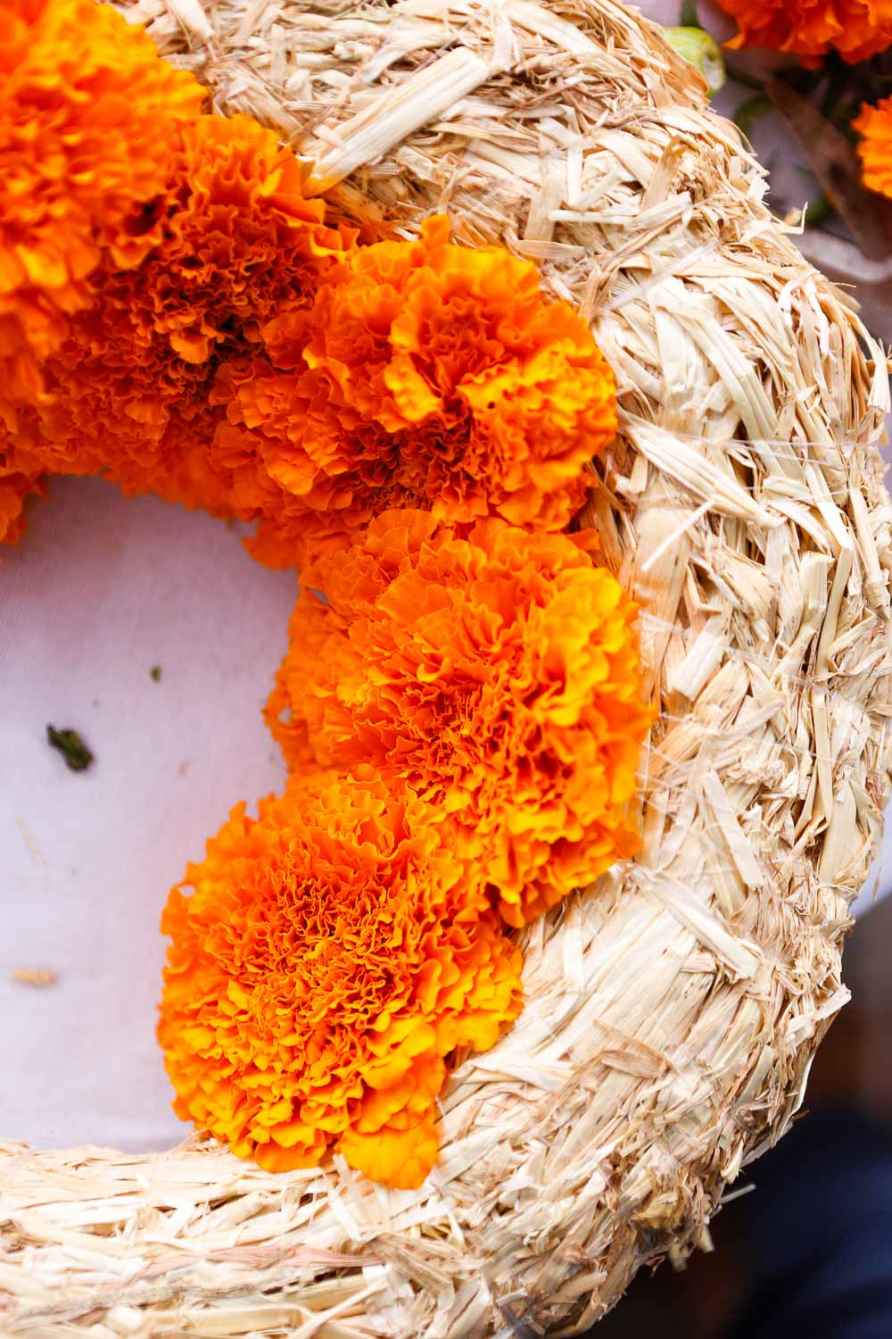 step by step marigold wreath