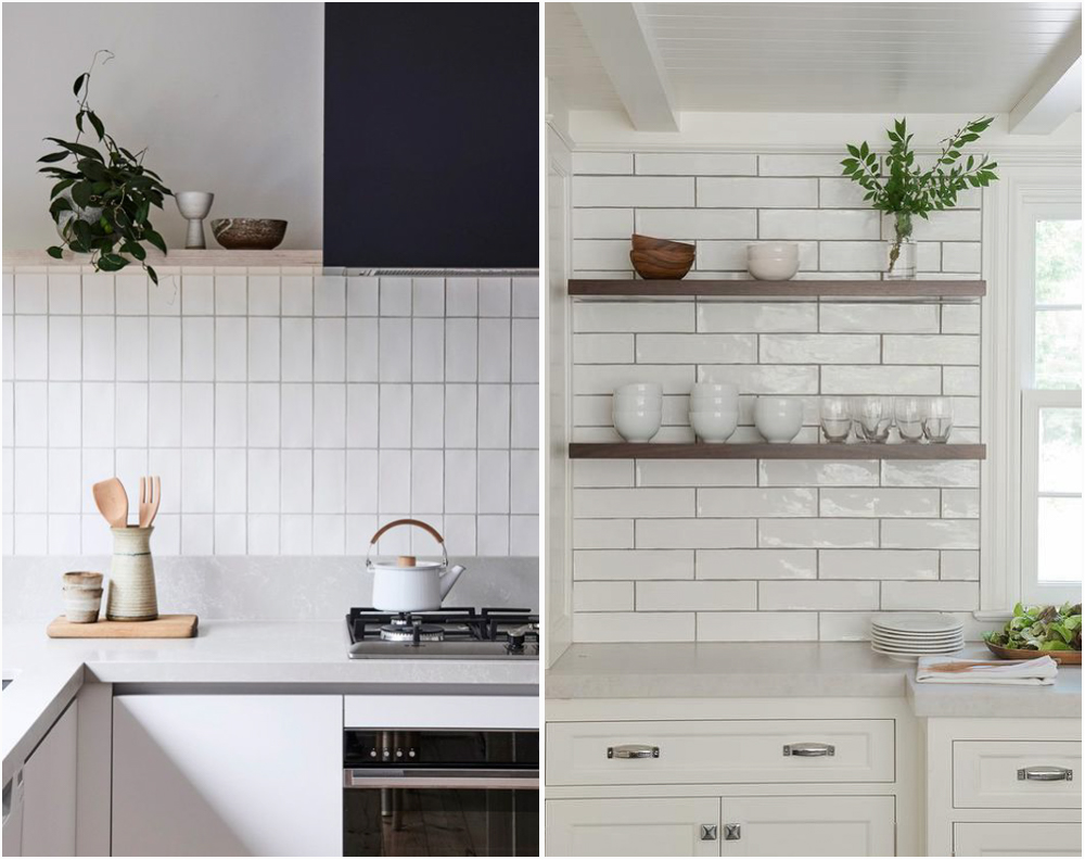 Everybody Uses Subway Tile So I Was Very Hy When Found This Handmade At Lowe S That It Is Long And Has Texture Looks Something Like